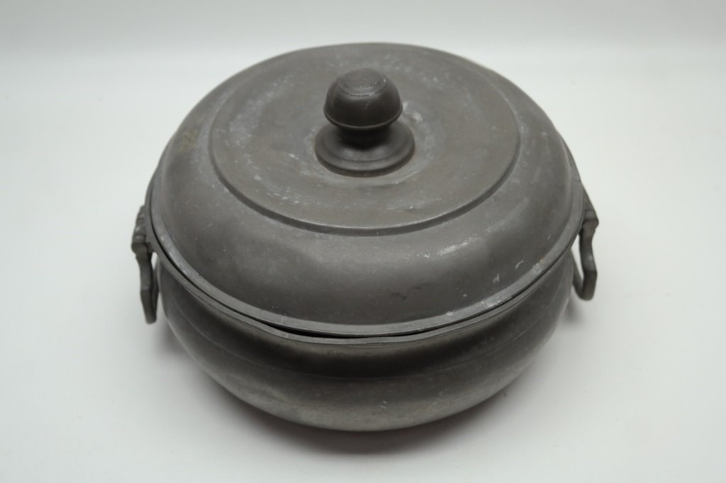 Antique Pewter Box w/ touch marks