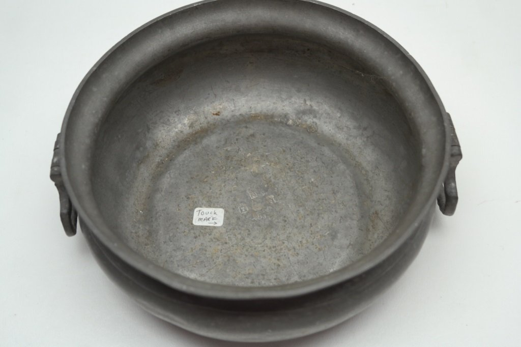Antique Pewter Box w/ touch marks - 2