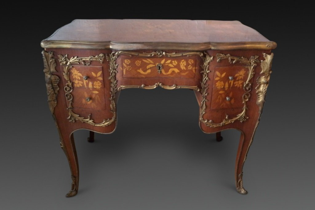 French Louis XV style Ormulu Inlaid Vanity