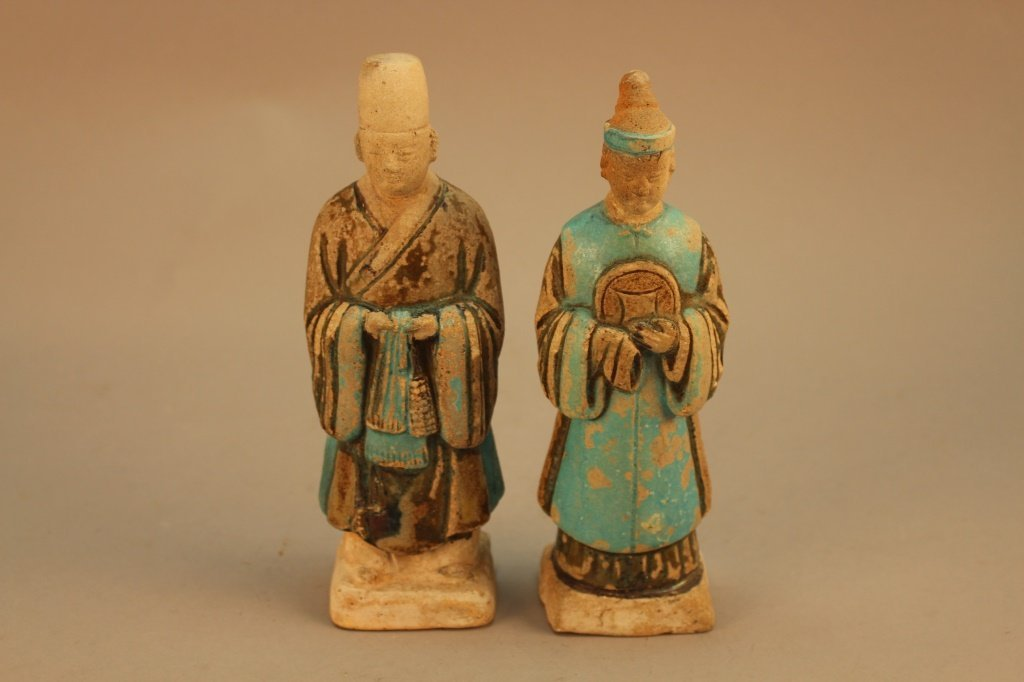 (2) Chinese Ming Dynasty Figures