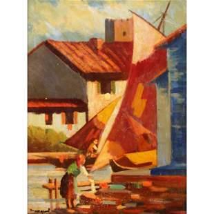 Albert Marquet (1875-1947) Harbor Scene
