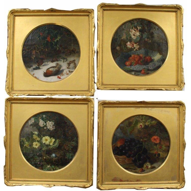 Eloise Stannard  (c.1828 - 1915) Four Seasons