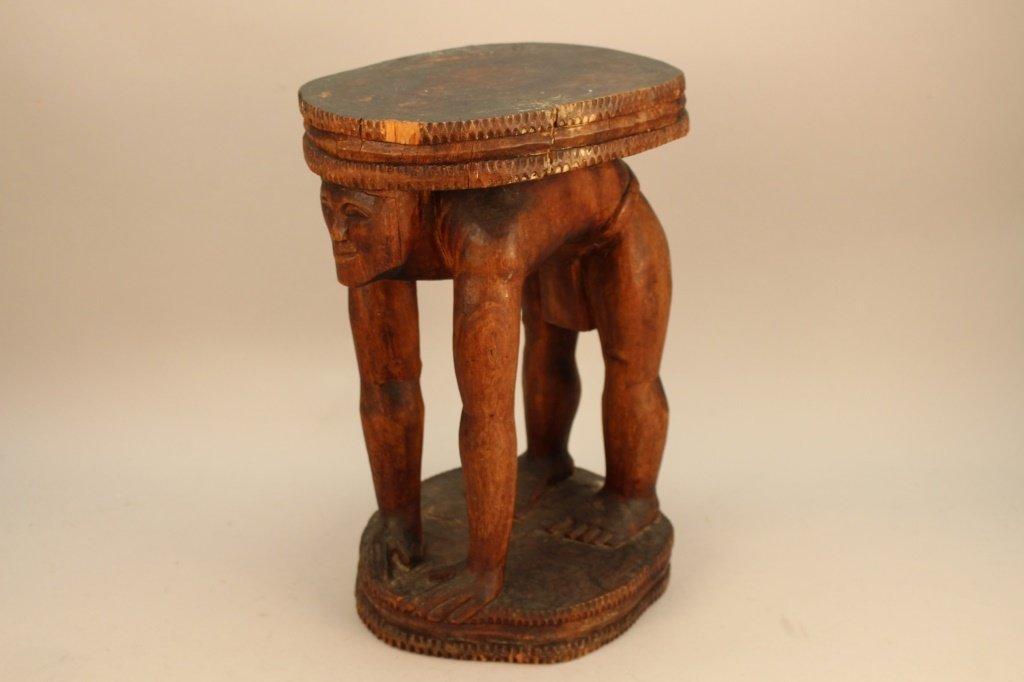 Antique Bamilike/Bamenda Figurative Stool