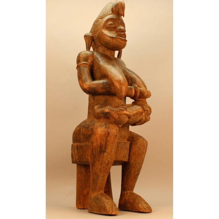 Large Antique African Senufo Maternity Sculpture