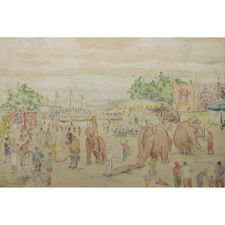 "Reynolds Beal  (1866 - 1951)""At the Circus"" Pair"