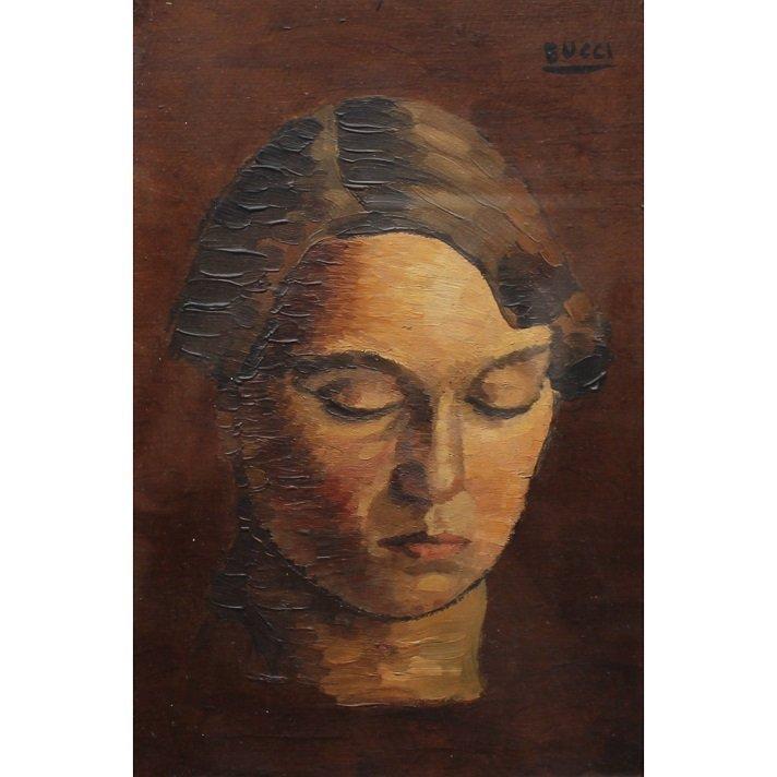 Anselmo Bucci (Italian 1887-1955) Female Portrait