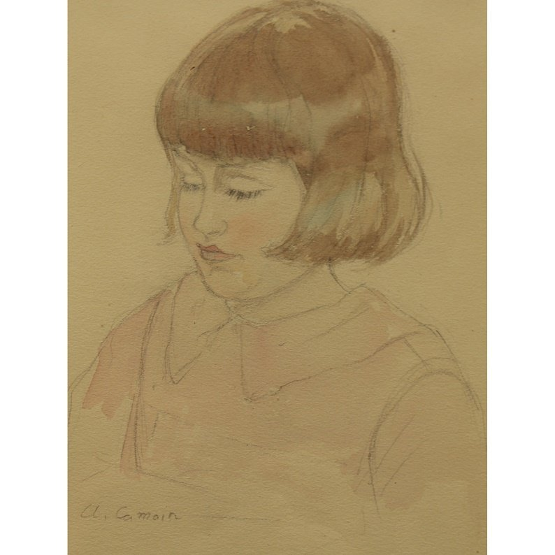Charles Camoin (French 1879 - 1965) WC/Pencil