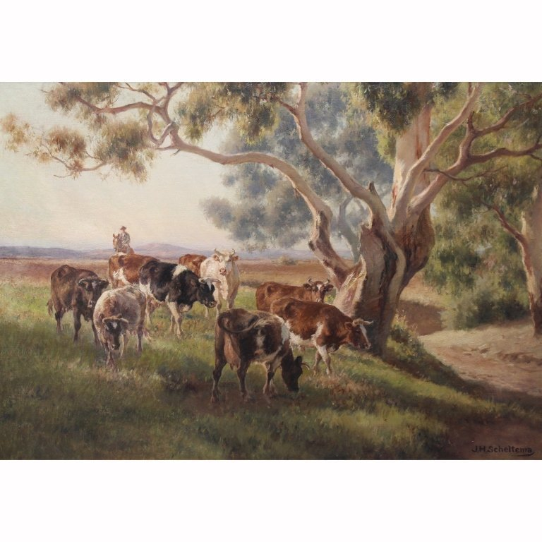 Jan Scheltema  (1861 - 1938)  Australian