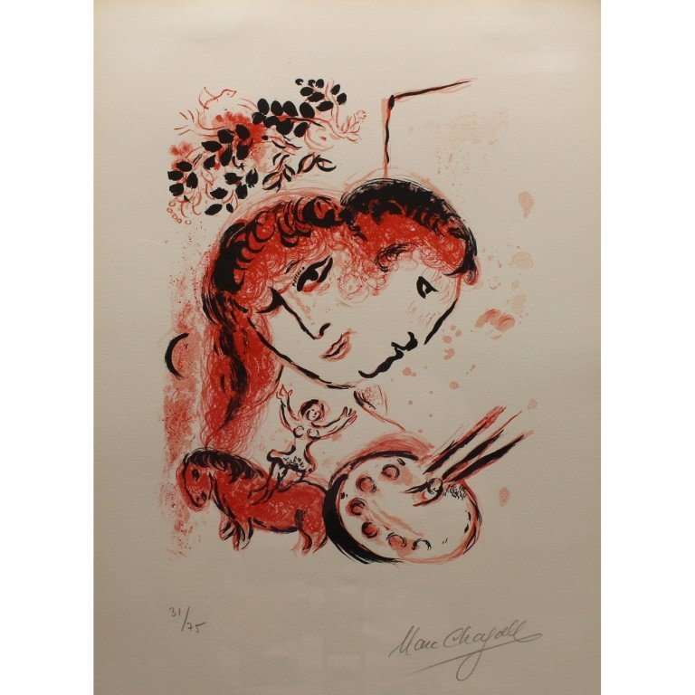 Marc Chagall (1887-1985) 'Couverture' Lithograph