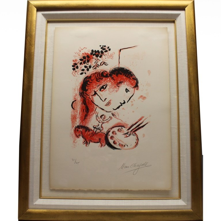 Marc Chagall (1887-1985) 'Couverture' Lithograph - 2