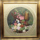 Signed Modern Framed Still Life OilCanvas