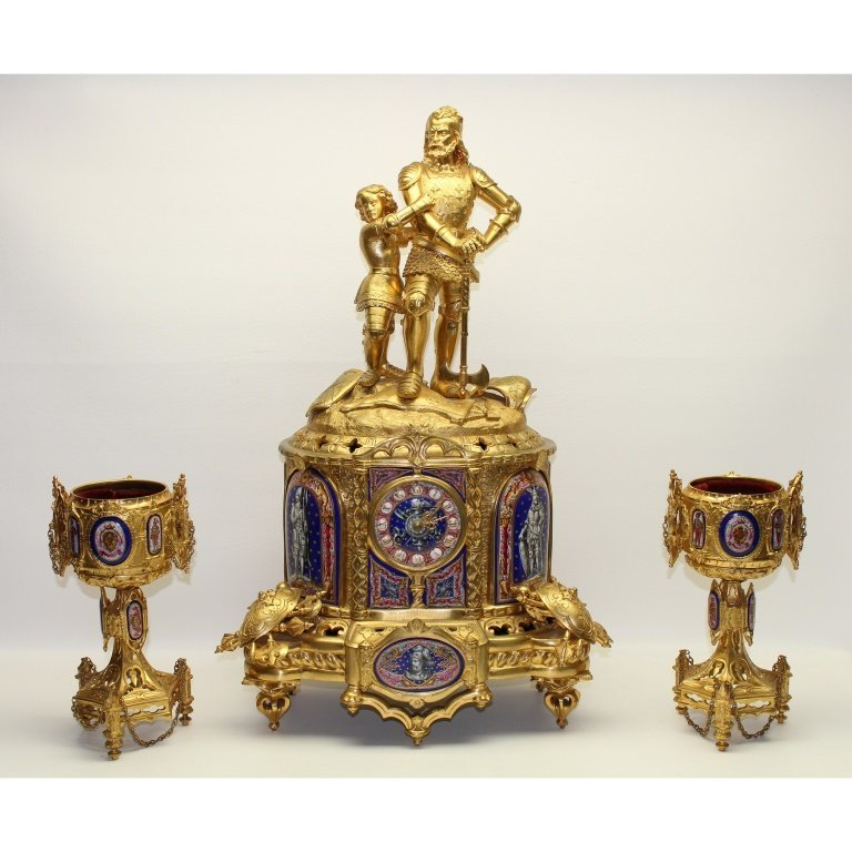 Large 19th C.French Le Roy & Fils Ormolu Clock
