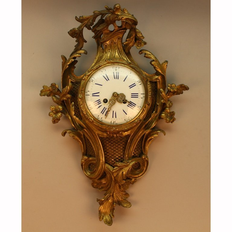 19th C. Bronze Cartel Clock