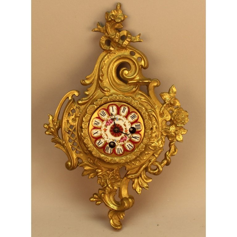 19th C. French Bronze Cartel Clock