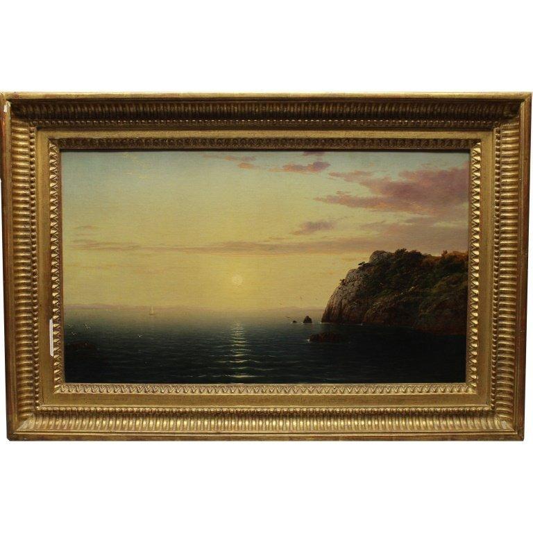 Attr. John Frederick Kensett  (1816 - 1872) Beacon Rock
