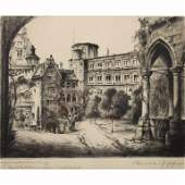 19th C Ernst Zipperrer Etching