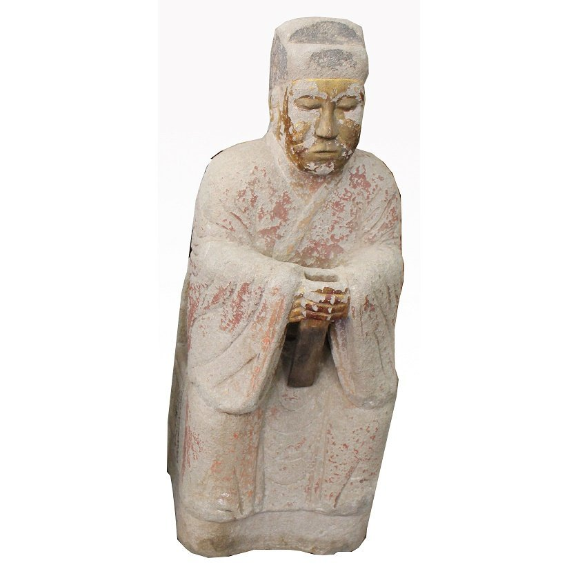 Antique Chinese Temple Kneeling Buddha Figure