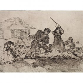 Francisco Goya, Spain 1746-1828. Etching Papulacho