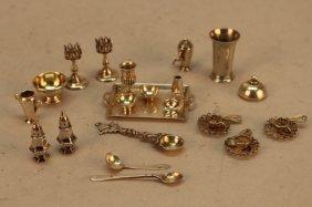 Vintage Sterling Silver Miniature Doll Tea Set