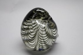 1976 Murano Glass Bird Paperweight