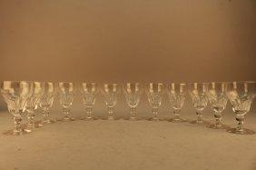 12 Signed Stuart Crystal Wine Glasses