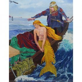 Signed 20th C. Allegorical Painting