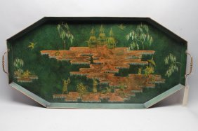 20th C. Chinoisserie Tray
