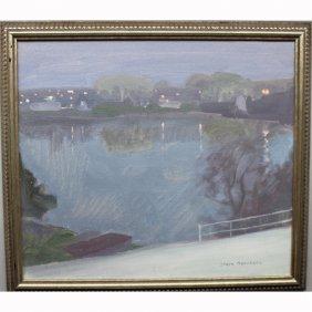 """river At Dusk"" 1998 Steve Gerhartz (born 1971)"