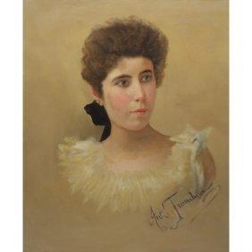 19th C. Antonio Franchini Signed Oil/canvas