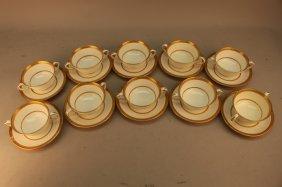 10 Royal Worcester Porcelain Cup/saucers