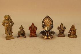 (6) Vintage India Figures