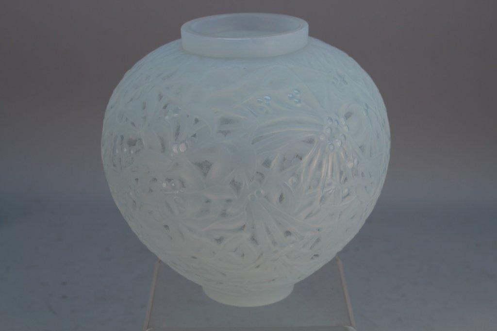 Lalique Signed 'Gui' Mistletoe Vase
