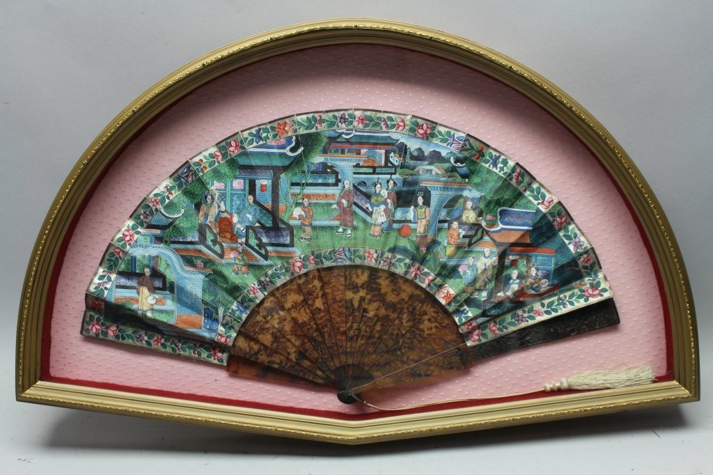 Rare 19th Century Chinese Framed Fan