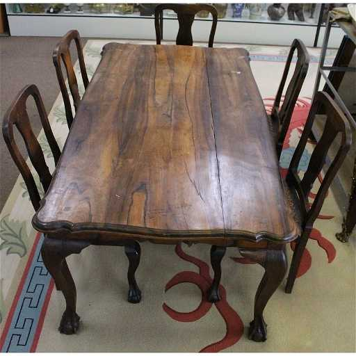 South African Stinkwood Dining Table 5 Chairs
