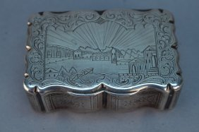 Fine Antique Russian Engraved Sterling Silver Box