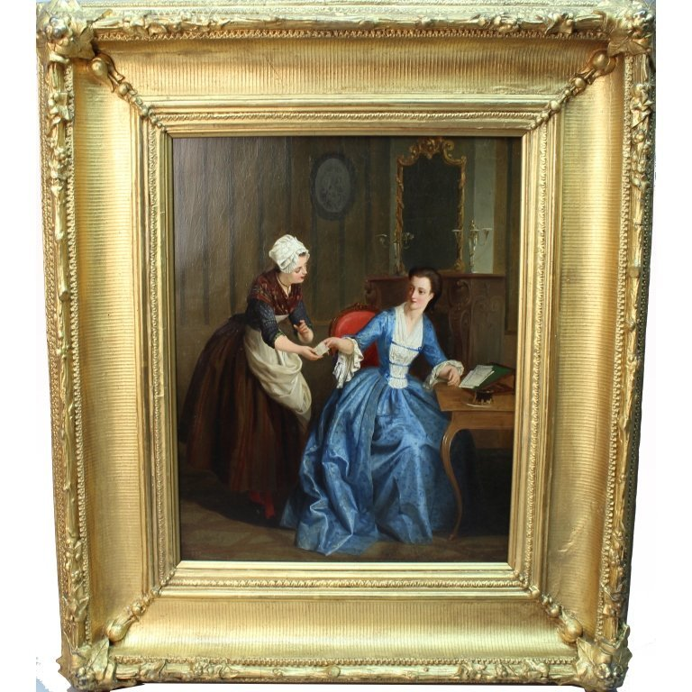 Exceptional 19th C. French Genre Painting
