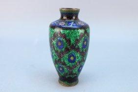 Japanese Gilt Cloisonne Enameled Vase