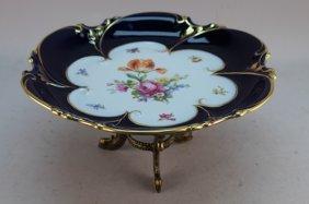 German Echt Kobalt Artist Signed Porcelain Taza