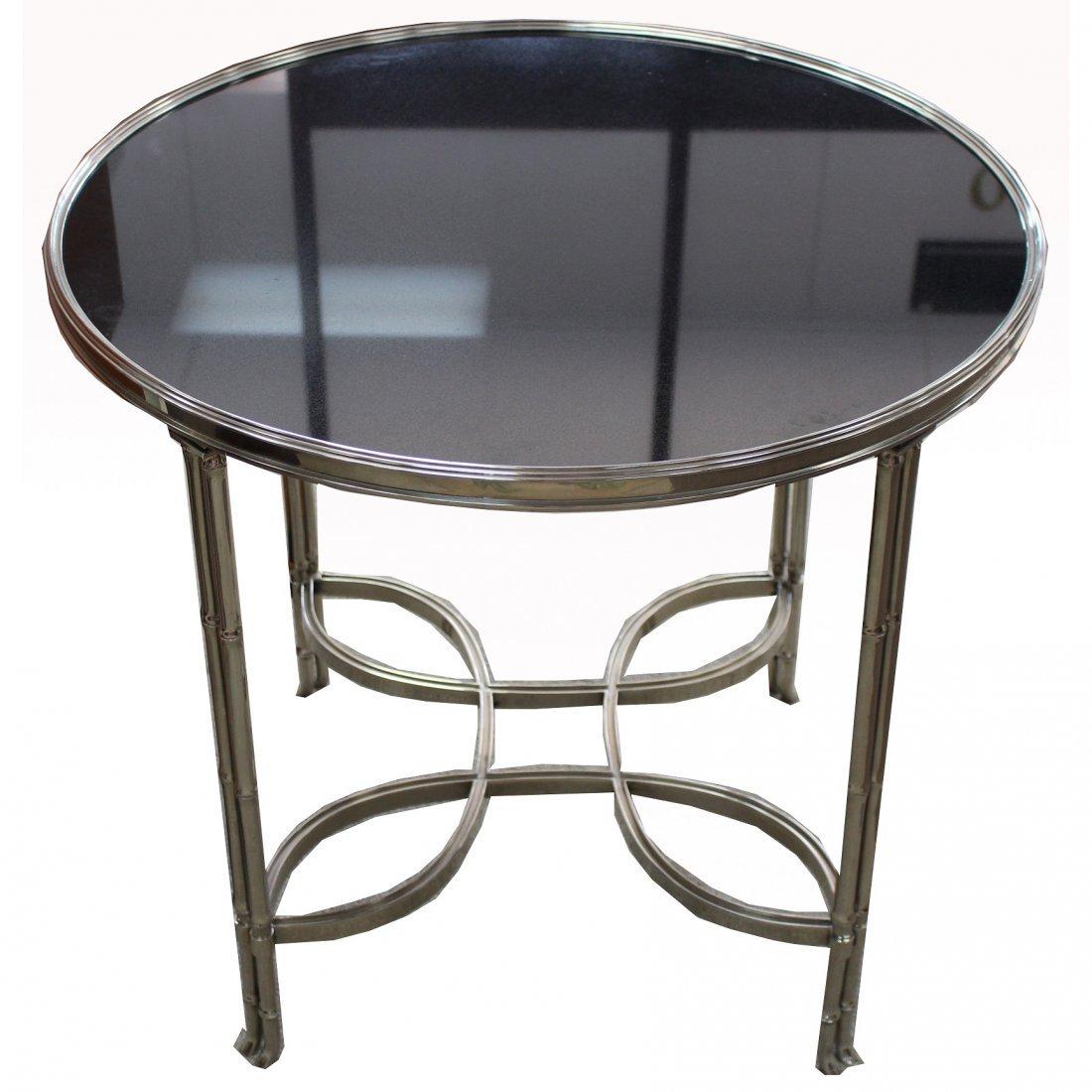 Modern Granite/Silvered Bronze Center Table