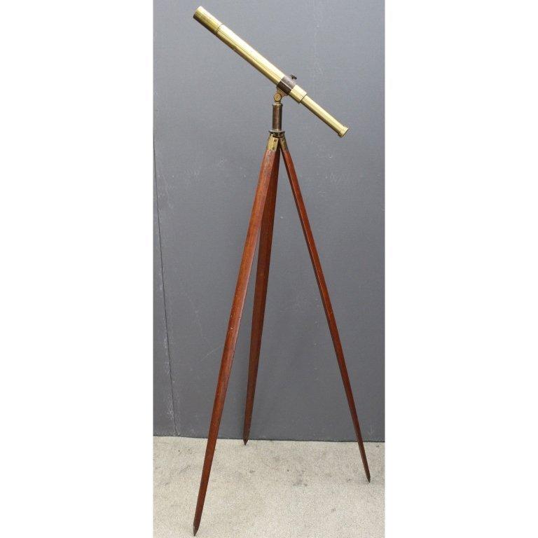 Brass Telescope on Mahogany Tripod
