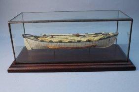 "Whale Bone Model Of Whale Boat ""no. 3 Ann"""