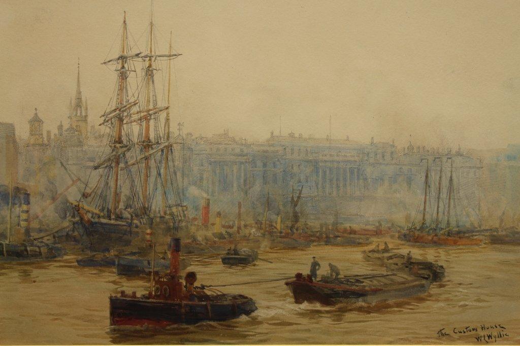 William Lionel Wyllie  (1853 - 1931) Watercolor