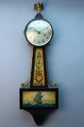 Antique Ingraham Nautical Banjo Clock
