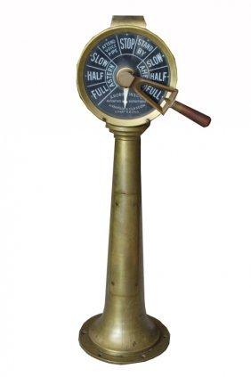Antique Brass Ship's Telegraph