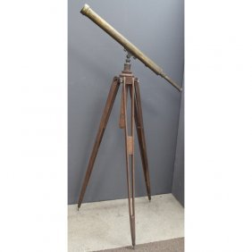 Antique Brass Telescope, Rack & Pinion Focusing