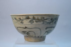 Antique Hoi An Hoard Pottery Bowl