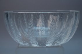 Lalique France 'cere' Pattern Bowl