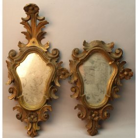 (2) 18th C. Carved Italian Mirrors