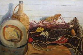 Glenn Tilley Morse (1870 - 1950)'moth And Flies'
