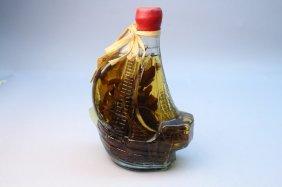 Caribbean Splash Vinegar In Glass Ship Bottle